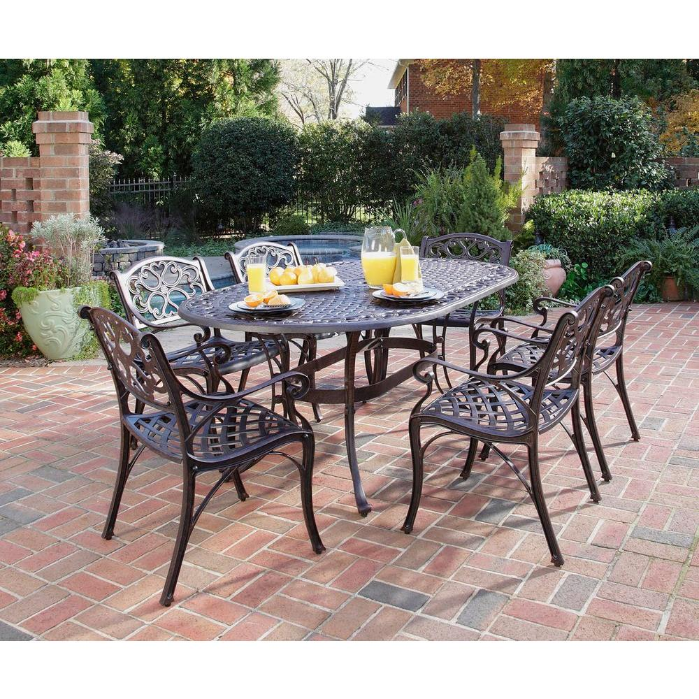 Home Styles Biscayne Bronze 7 Piece Patio Dining Set