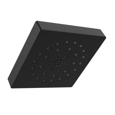4-Spray Pattern with 1.75 GPM 7-2/3 in. Wall Mount Fixed Shower Head with H2Okinetic UltraSoak Spray in Matte Black