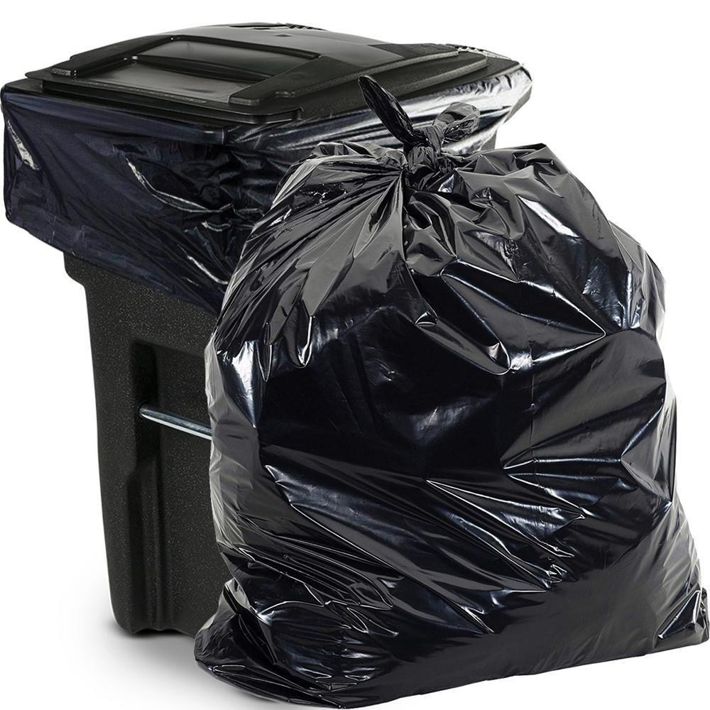 65 Gal. 1.5 mm Heavy-Duty Black Trash Bags (50 -Count)