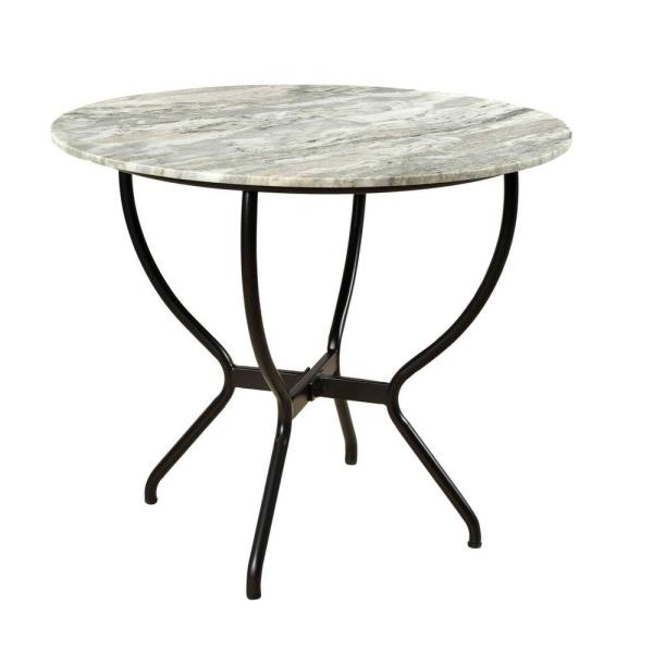 Madeline White Marble Round Dining Table