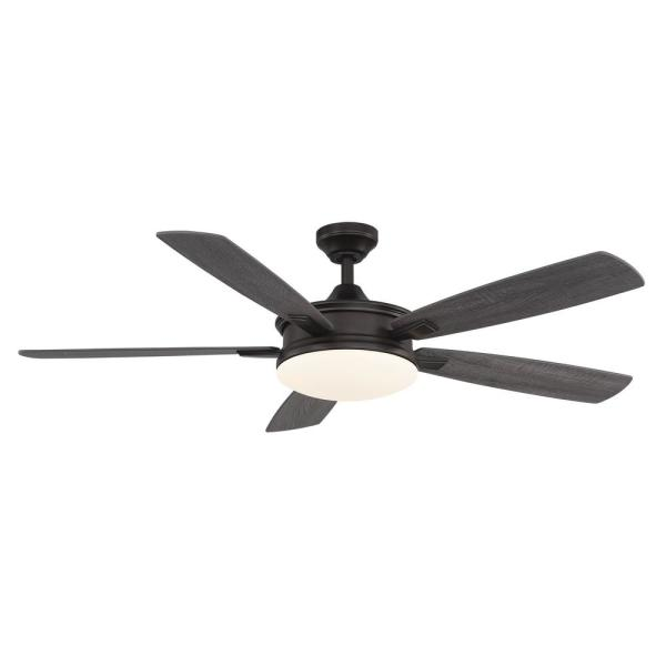 Anselm 54 in. Integrated LED Indoor Oil Rubbed Bronze Ceiling Fan with Light Kit and Remote Control