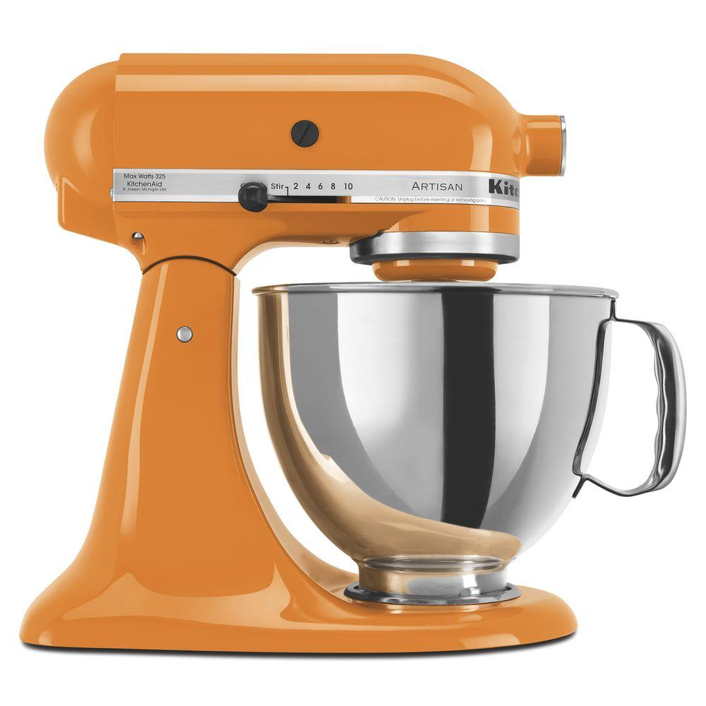 Mixer Kitchen: KitchenAid Artisan 5 Qt. Tangerine Stand Mixer-KSM150PSTG