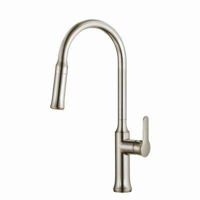 Nola Single-Handle Pull-Down Kitchen Faucet with Dual-Function Sprayer in Stainless Steel