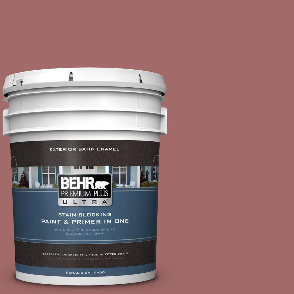 BEHR Premium Plus Ultra 5-gal. #S150-5 Vermilion Satin Enamel Exterior Paint