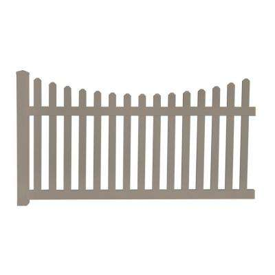 Helena 4 ft. H x 8 ft. W Khaki Vinyl Picket Fence Panel EZ Pack