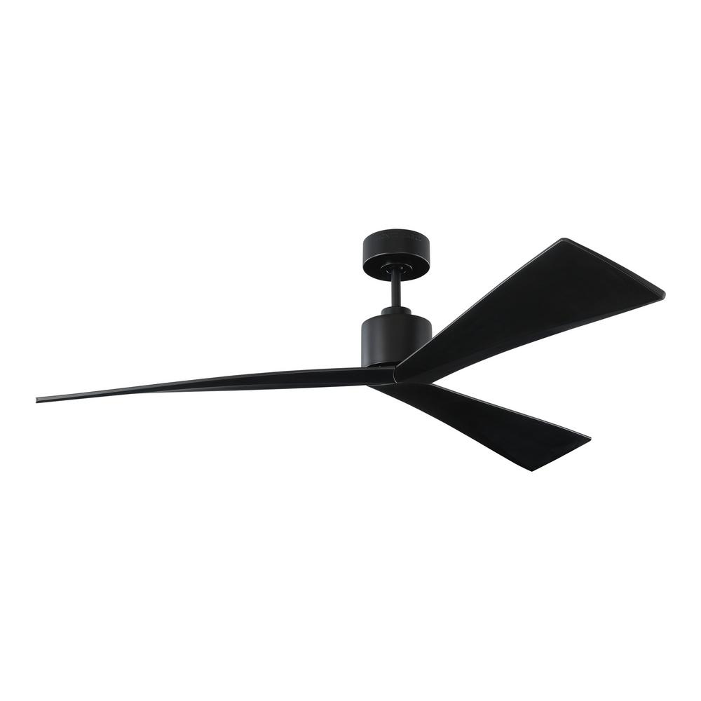Monte Carlo Adler 60 in. Black Ceiling Fan with Black Blades with Remote