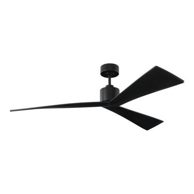 Adler 60 in. Black Ceiling Fan with Black Blades with Remote
