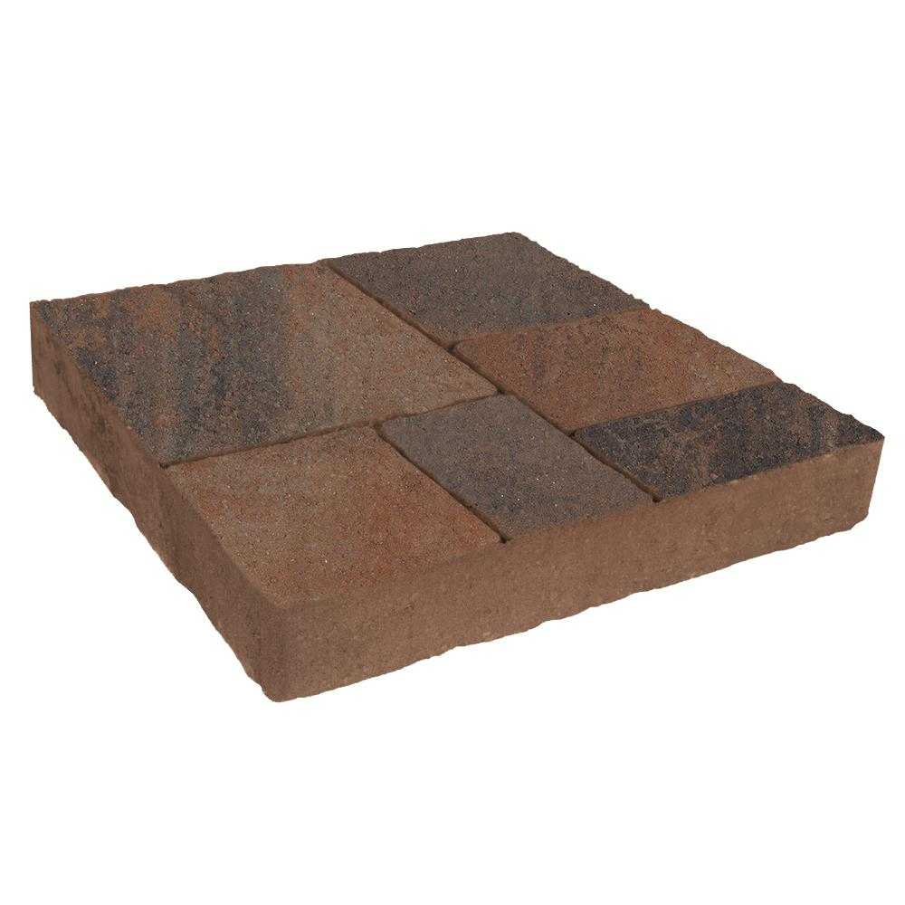 Valestone Hardscapes Avellino Stone 16 in. x 16 in. x 2.25 in. Delaware Blend Red/Brown/Charcoal Concrete Step Stone