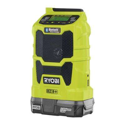 18-Volt ONE+ Lithium-Ion Cordless Compact Radio Kit with Bluetooth Wireless Technology