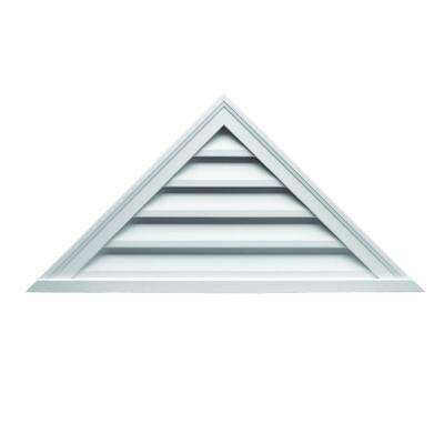 42 in. x 21 in. x 2 in. Polyurethane Functional Triangle Louver Gable Vent