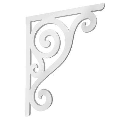 Decorative 16 in. Paintable PVC Scroll Mailbox or Porch Bracket