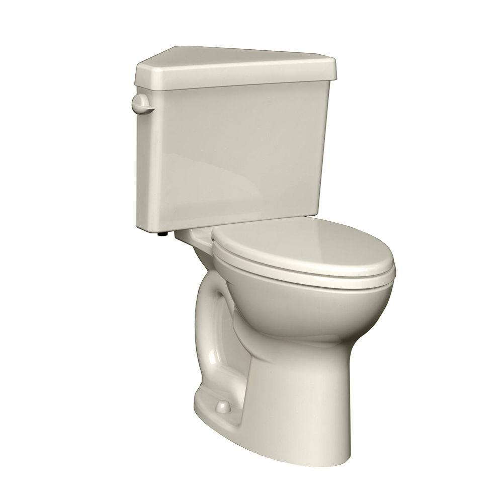 American Standard Cadet 3 Powerwash Triangle Chair Height 2-piece 1.6 GPF Round Toilet in Linen