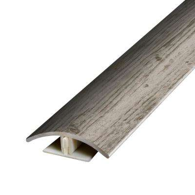 Antiquated Restored Wood Warm Grey .37 in. Thick x 1.75 in. Wide x 78.7 in. Length Vinyl 2-in-1 Molding