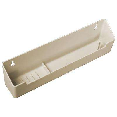 3 in. x 14 in. x 2 in. Polymer Sink Front Tray with Ring Holder Cabinet Organizer