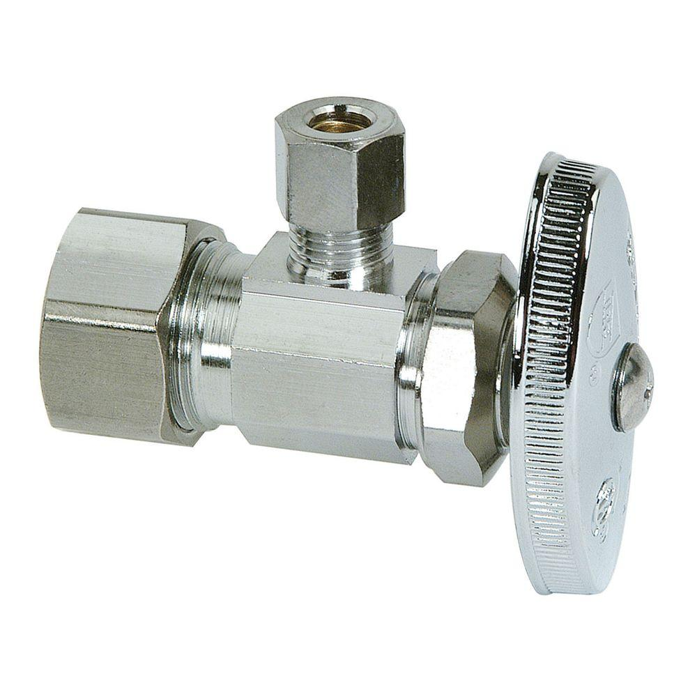 BrassCraft 1/2 in. Nominal Compression Inlet x 1/4 in. O.D. Compression Outlet Multi-Turn Angle Valve