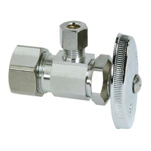 Brasscraft 1/2 inch Nominal Compression Inlet x 1/4 inch O.D. Compression Outlet Multi-Turn Angle Valve by BrassCraft