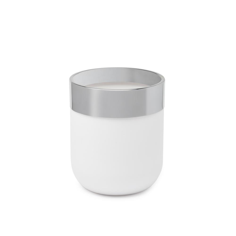 Umbra Junip Can in Chrome/White