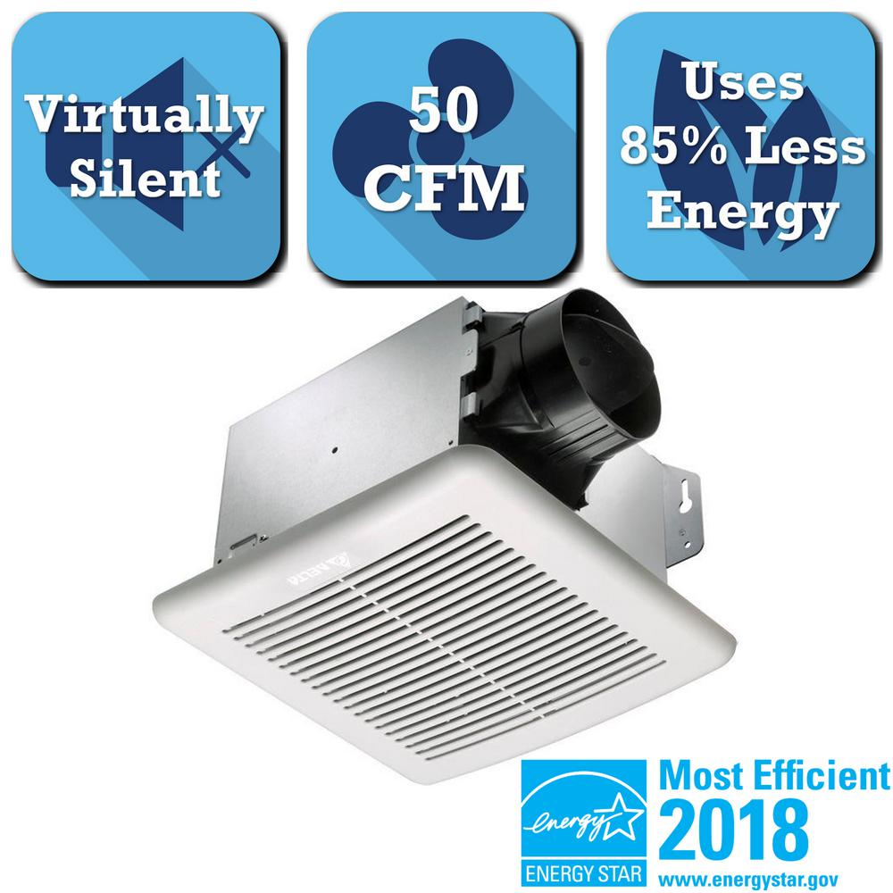 GreenBuilder Series 50 CFM Ceiling Bathroom Exhaust Fan with Light, ENERGY
