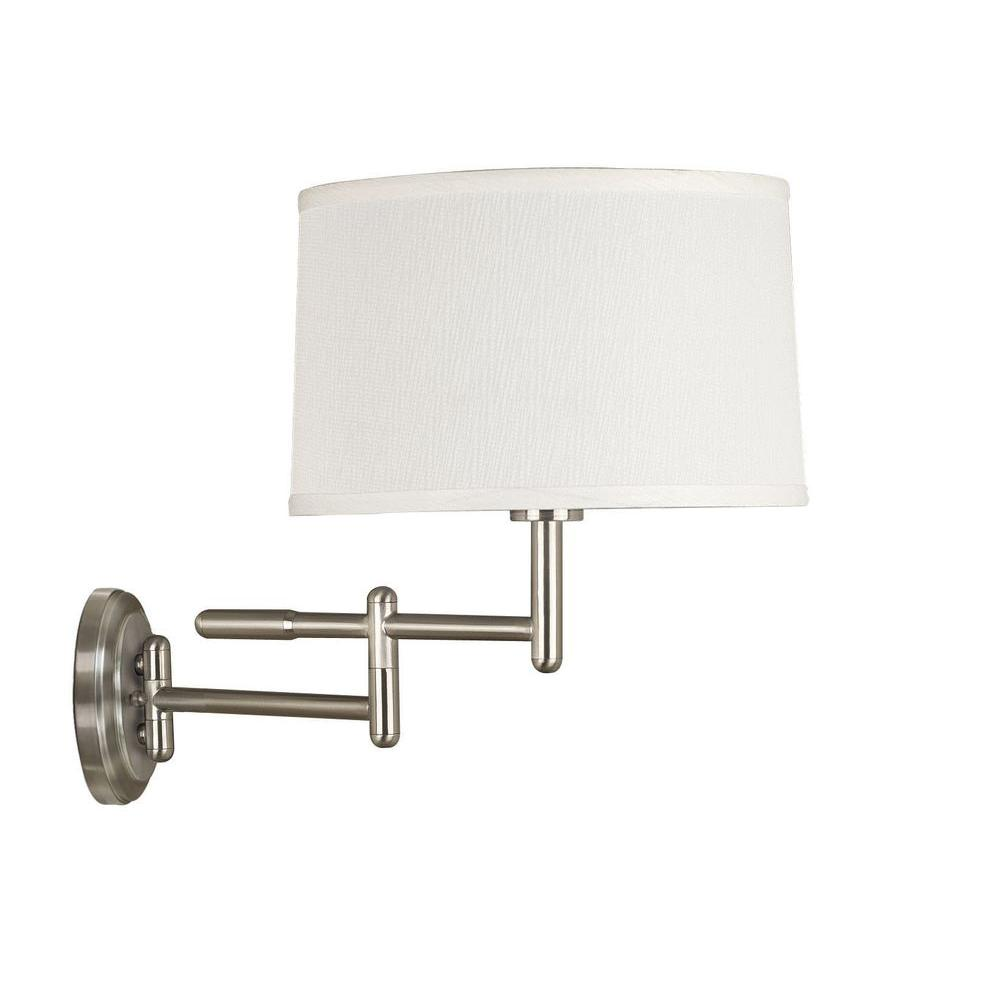 Kenroy Home Theta Brushed Steel Wall Swing Arm Lamp