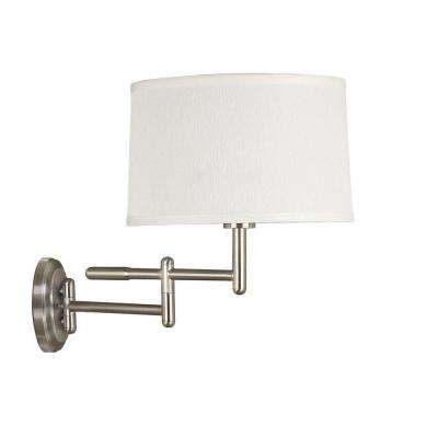 Theta Brushed Steel Wall Swing Arm Lamp