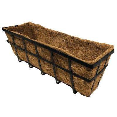24 in. Metal Window Planter with Coco Liner
