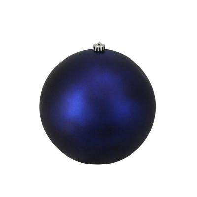 10 in. (250 mm) Matte Royal Blue Commercial Shatterproof Christmas Ball Ornament