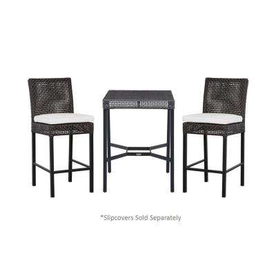 Fenton 3-Piece Patio High Bistro Set with Cushion Insert (Slipcovers Sold Separately)