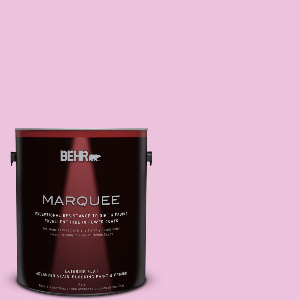 1-gal. #P120-1 Starlet Pink Flat Exterior Paint
