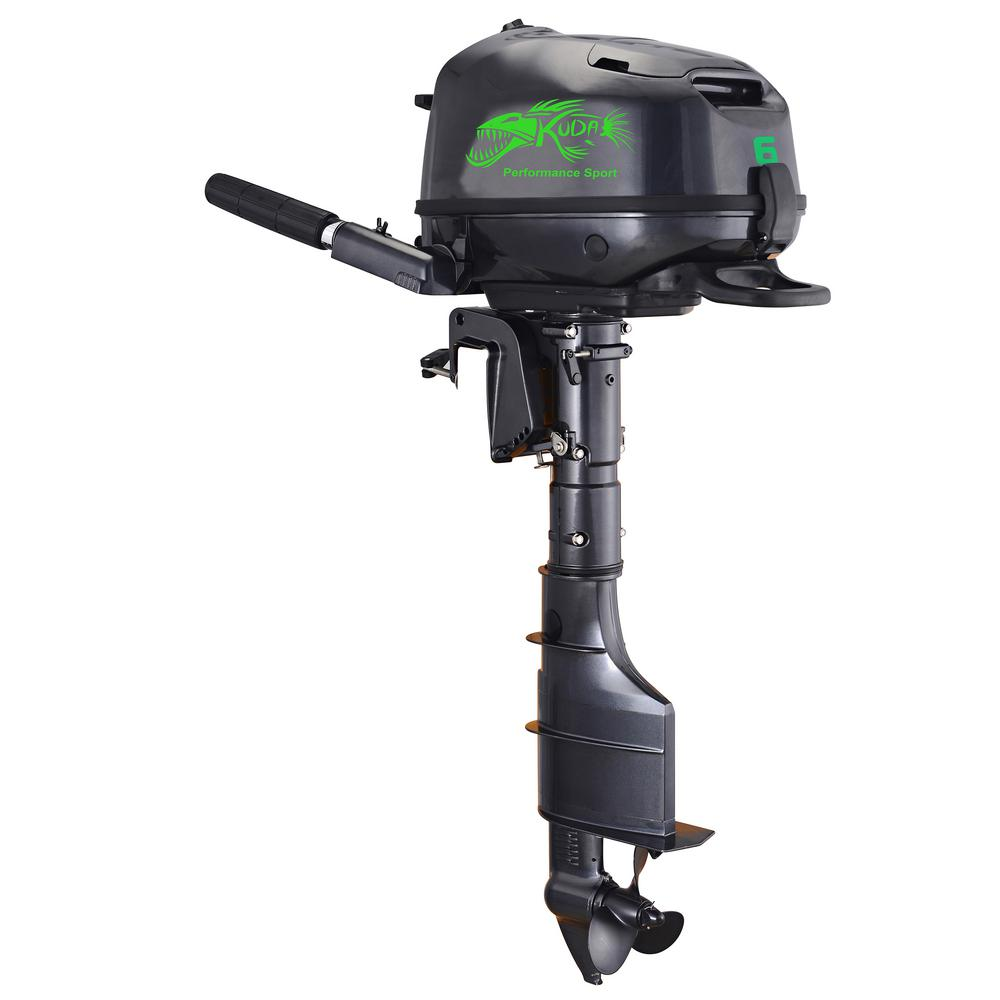 4 Stroke 6 HP 5000RPM Outboard Motor with 15 in. Shaft Length, Recoil Start