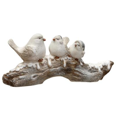 10 in. Magnesia Birds on Tree Branch