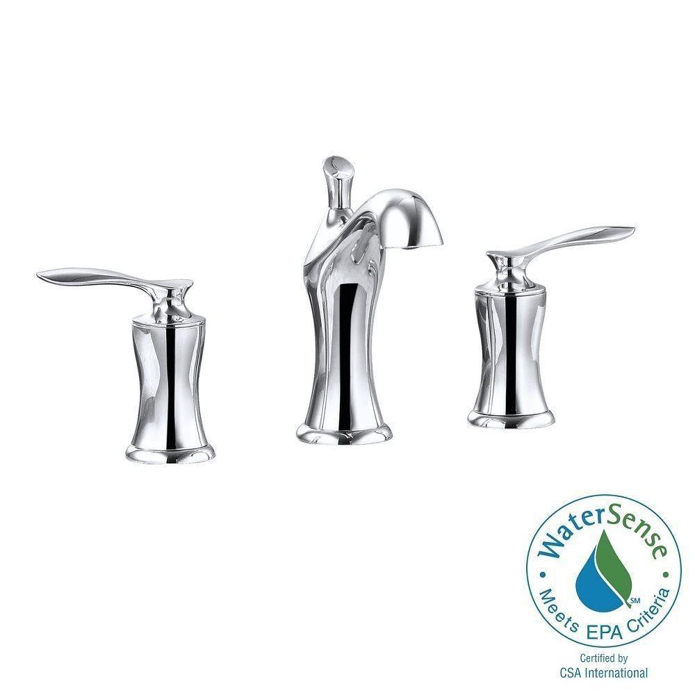 Fontaine 8 in. Widespread 2-Handle Mid-Arc Bathroom Faucet in Chrome with