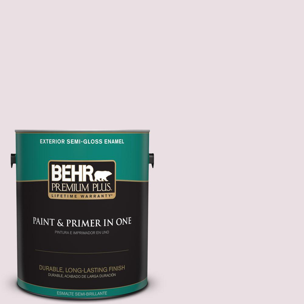 BEHR Premium Plus Home Decorators Collection 1-gal. #HDC-CT-08 Pink Posey Semi-Gloss Enamel Exterior Paint