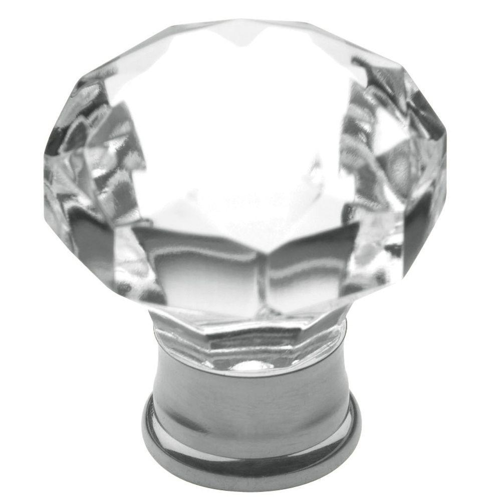 Baldwin Flat Faceted Crystal 1 3 16 In Polished Chrome