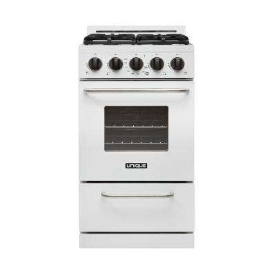20 in. 2.4 cu. ft. Propane Gas Off-Grid Range with Battery Ignition Sealed Burners in White