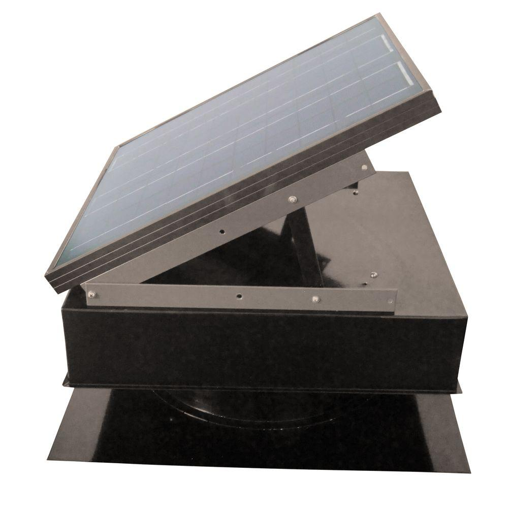 Remington Solar 25-Watt 1420 CFM Gray Solar Powered Attic Fan