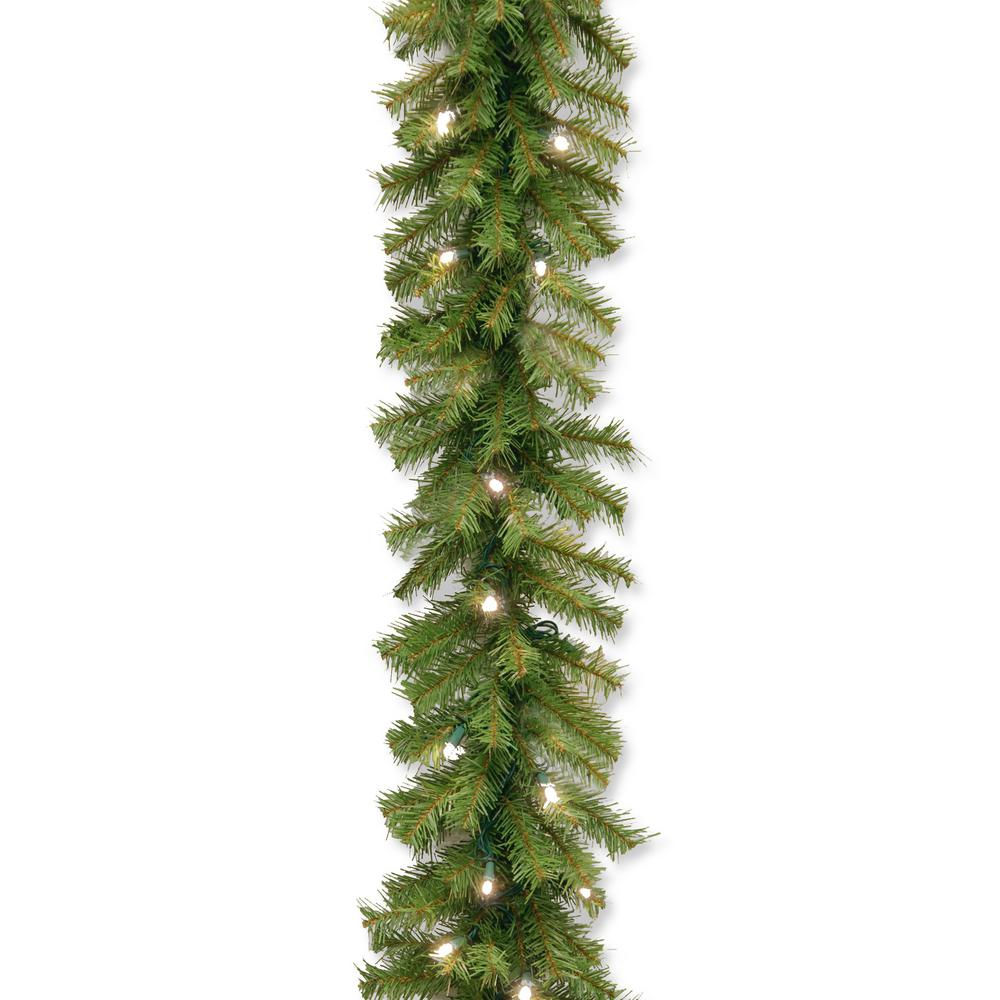 Norwood Fir 9 Ft Garland With Warm White Led Lights