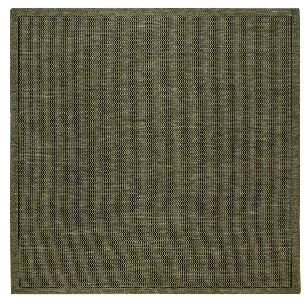 Home Decorators Collection Saddlestitch Green/Black 7 ft. 6 in. Square Area Rug