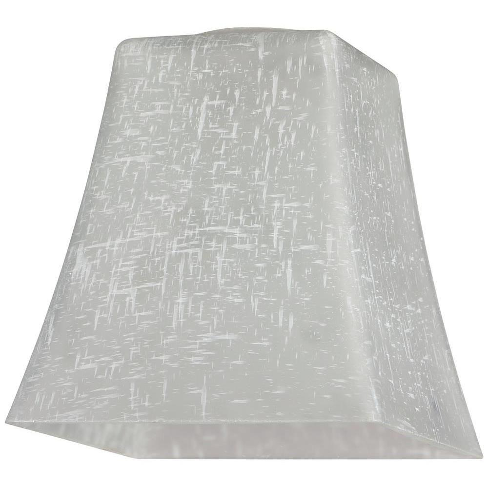 5-1/4 in. Hand-Blown White Linen Flared Cube Shade with 2-1/4 in.