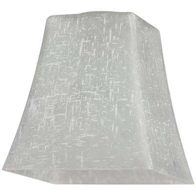 5-1/4 in. Hand-Blown White Linen Flared Cube Shade with 2-1/4 in. Fitter and 5 in. Width