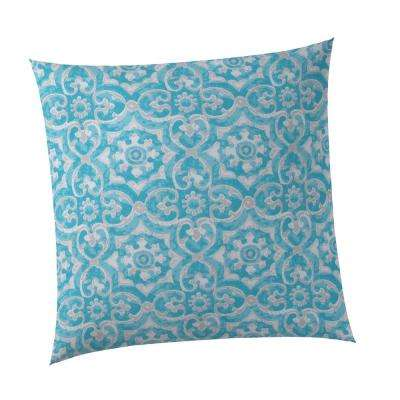 Madrid Square Outdoor Throw Pillow