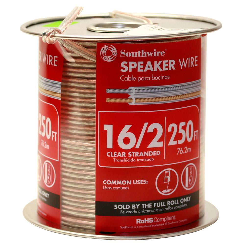 162 clear stranded cu speaker wire