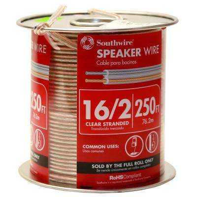 250 ft. 16/2 Clear Stranded CU CL3 Speaker Wire