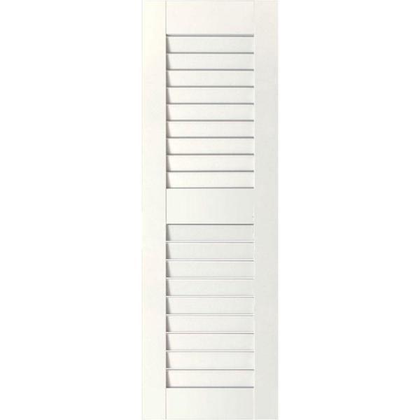 Ekena Millwork 15 In X 52 In Exterior Real Wood Pine Open Louvered Shutters Pair White Rwl15x052whp The Home Depot