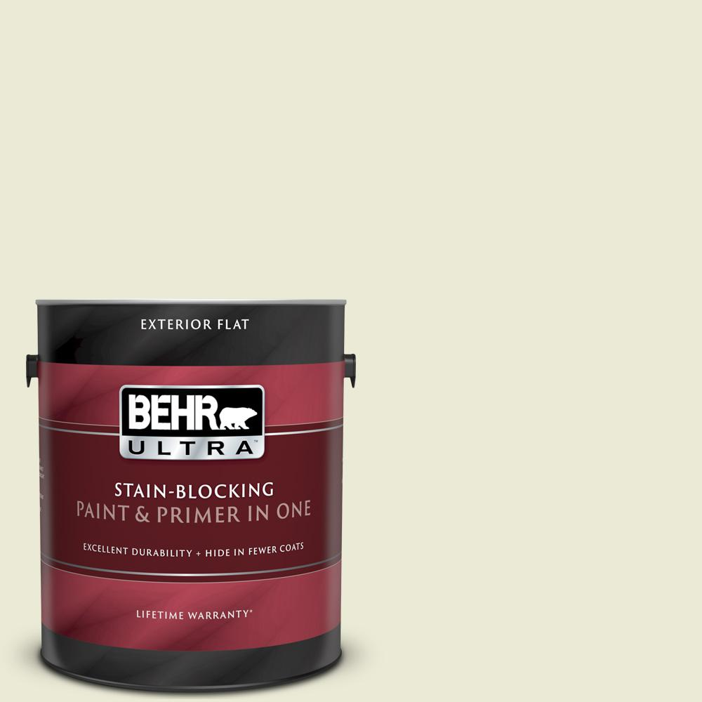 BEHR ULTRA 1 gal. #GR-W03 Amazon Breeze Flat Exterior Paint and Primer in One BEHR ULTRA 1 gal. #GR-W03 Amazon Breeze Flat Exterior Paint and Primer in One