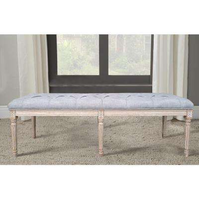 Christie's Oversized Grey French Bench