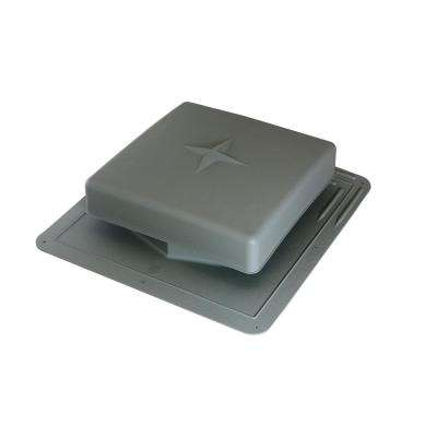 61 sq. in. NFA Plastic Square-Top Roof Louver Static Roof Vent in Weatherwood (Sold in Carton of 10 only)