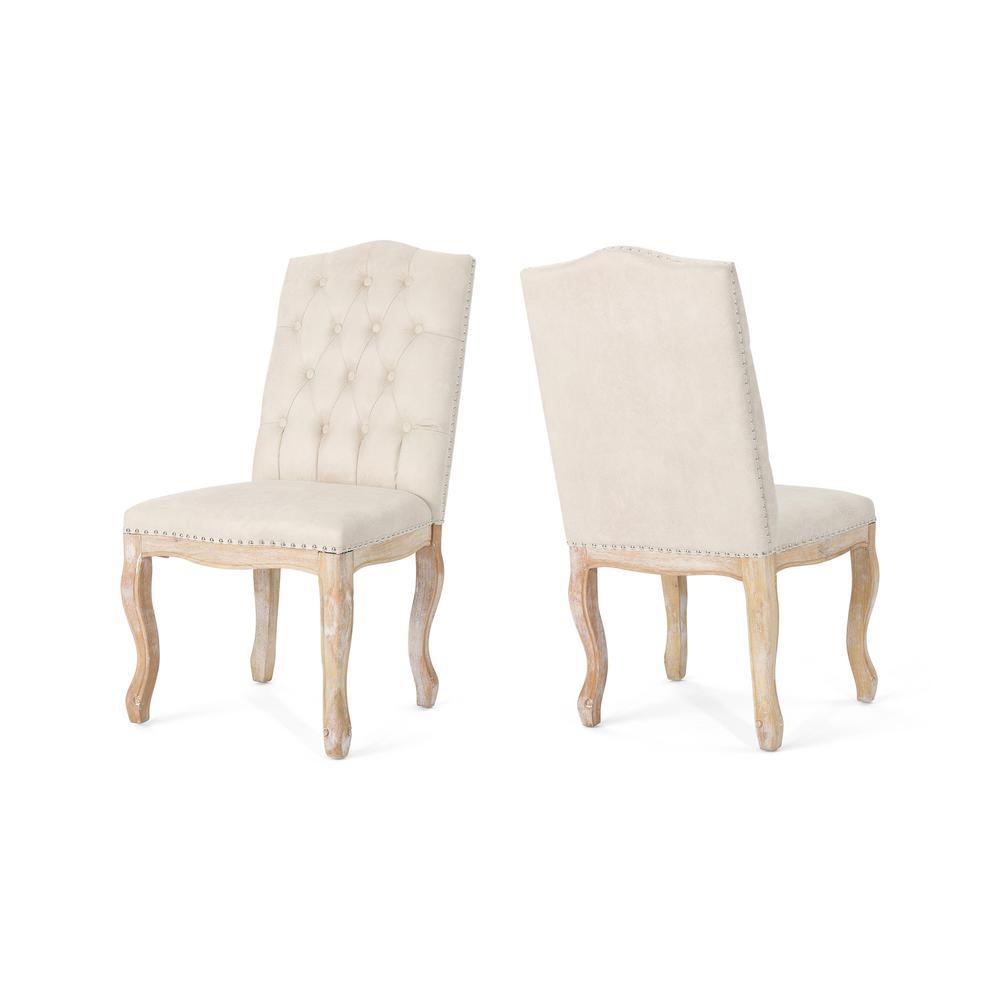Nailhead Trim - White - Fabric - Dining Chairs - Kitchen ...