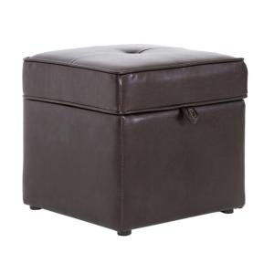 Baxton Studio Sydney Brown Storage Ottoman by Baxton Studio