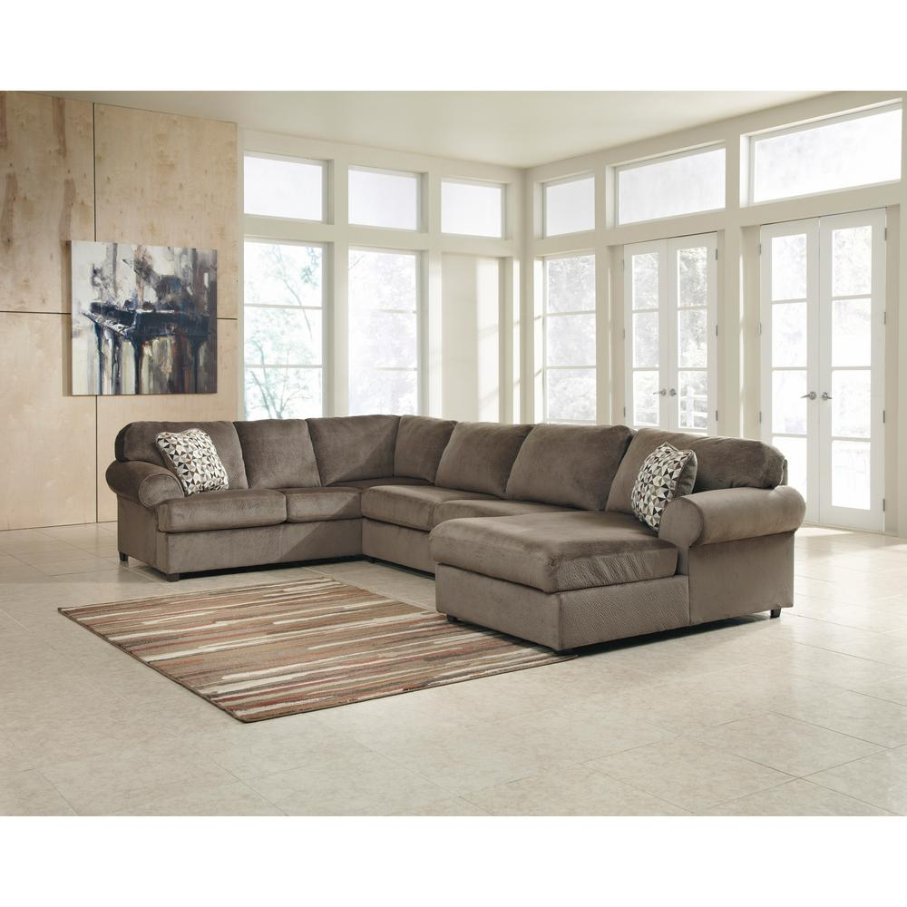 Flash Furniture Signature Design By Ashley Jessa Dune Fabric Place Sectional