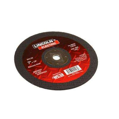 7 in. x 1/8 in. Red Diamond Hole Cut-Off Wheel